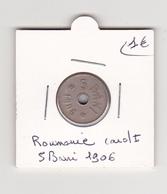 5 Bani Carol 1  De 1906 - Roumanie