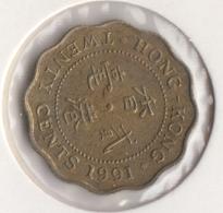 @Y@   Hong Kong   20  Cents  1991    (4462) - Hong Kong