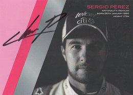 Sergio Perez Sahara Force F1 Team Hand Signed Photo - Autographes