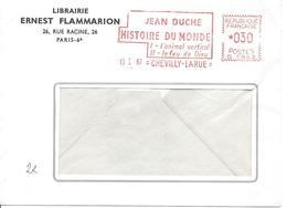 EMA Machine G 1943 CHEVILLY-LARUE 19 Janvier 1967 Publicité Flammarion HISTOIRE DU MONDE - Marcophilie (Lettres)