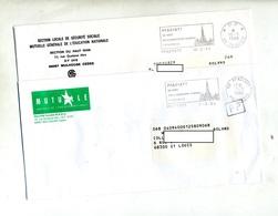 2 Lettre Flamme Pfastatt Eglise Port Payé + Cachet PP - Marcophilie (Lettres)