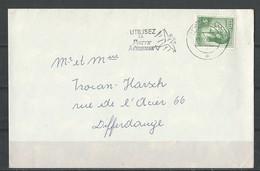 Lettre  Avec Flamme (Utilisez La Poste Aérienne) - Luxembourg