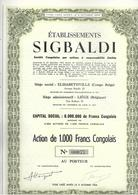 Congo - Ets Sigbaldi - Afrique