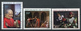 1968-CONGO- TABLEAUX -ART -M.N.H. -  3 VAL. LUXE !! - Neufs