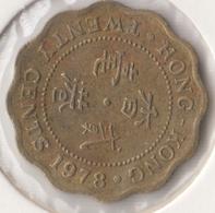 @Y@   Hong Kong   20  Cents  1978    (4458) - Hongkong