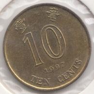@Y@   Hong Kong   10  Cents  1997    (4457) - Hongkong