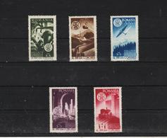 1947 -  17 CONGRES DES INGENIEURS  .  MI No 1078/1082 - Ungebraucht