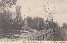 Vintage - Richmond Québec Canada - Rue Main Street - Written 1907 - 2 Corners Slightly Damaged (see 2 Scans). - Quebec