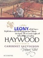 """ETIQUETTE  """"  HAYWOOD - CALIFORNIA - CABERNET SAUVIGNON"""" - Labels"""