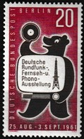 Timbre-poste Gommé Neuf** - Exposition Phono-radio-télévision à Berlin - N° 195 (Yvert) - Allemagne Berlin 1961 - [5] Berlin