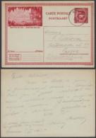 Belgique 1931- EP Képi Voyagé 1F Rouge  : Grottes De Han  (DD) DC 1818 - Ganzsachen