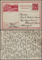 Belgique 1931- EP Képi Voyagé 1F Rouge  : Dinant  (DD) DC 1819 - Entiers Postaux