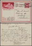 """Belgique 1931- EP Képi Voyagé 1F Rouge  : Bruxelles """" Exposition Universelle 1935 """"  (DD) DC 1820 - Ganzsachen"""