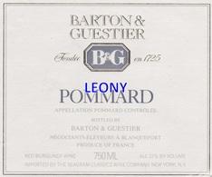 """ETIQUETTE  """"  POMMARD - BARTON & GUESTIER """" - Labels"""