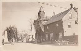 Real Photo - Vintage 1945 - Danville Québec Canada - Rue Main Street - Car Voiture - 2 Scans. - Quebec
