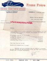 BELGIQUE- CHARLEROI- RARE FACTURE FRANZ FRERE-CARROSSIER-TOLIER-CARROSSERIE TOLERIE-21 AVENUE PHILIPPEVILLE-1952 - Cars