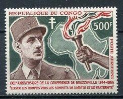 1966-CONGO- CH.DE GAULLE -M.N.H. -  1 VAL. LUXE !! - Neufs