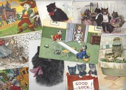 Lot 1587 De 10 CPA Chat Chats Cat Katze Déstockage Pour Revendeurs Ou Collectionneurs - Postcards