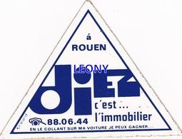 """AUTOCOLLANT  """"   DIEZ C'est L' IMMOBILIER - ROUEN """" - Stickers"""