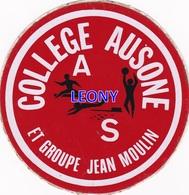 """AUTOCOLLANT  """"   COLLEGE AUSONE Et GROUPE JEAN MOULIN """" - Stickers"""