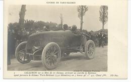 SPORT AUTOMOBILE. Course Paris Madrid. Pilote Salleron Sur MORS  3ème à Bordeaux. - Sport Automobile