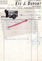 BELGIQUE- THY LE CHATEAU- RARE FACTURE ETS. J. DUPONT- CAROSSERIE-FABRIQUE REMORQUES- 1960 - Cars
