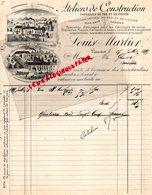 BELGIQUE- ROUCOURT- RARE FACTURE LOUIS MARLIER-ATELIERS CONSTRUCTION FONDERIE FER CUIVRE-CHAUDRONNERIE-1899 - Old Professions