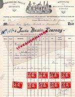 BELGIQUE- RANSART -RARE FACTURE JUSTIN BUXIN TOURNAY- PIERRES DE TAILLE-MONUMENTS FUNERAIRES -CARRIERES ECAUSSINES-1929 - Old Professions