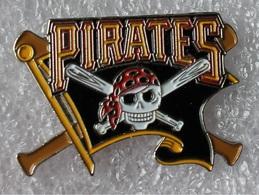 Pin's Baseball Pirates De Pittsburgh .tête De Mort . 19X29 Mm . Superbe - Baseball