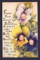 Flower Face Child Children -  Pink, Yellow Purple Flower Faces - AMC A/s - Birthday