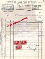BELGIQUE- RANSART -RARE FACTURE TH. CLAMOT VASSART- PIERRES DE TAILLE-MONUMENTS FUNERAIRES - CHAUSSEE DE GILLY 89- 1935 - Old Professions