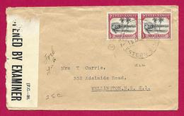Enveloppe Avec Censure - Voyagée D'Apia Aux Samoa à Destination De Wellington En Nouvelle Zélande - Samoa