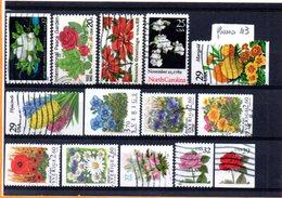 Thématique Fleurs, Lot De 14 Timbres, Lot N° 43 - Autres