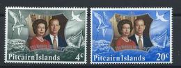 Pitcairn N°126/27** (MNH) 1972 - Couple Royal - Timbres