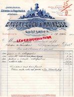 BELGIQUE- QUAREGNON- RARE FACTURE BAUDRY COCU MAIRESSE-IMPRIMERIE CHROMO LITHOGRAPHIE-1904 - Printing & Stationeries
