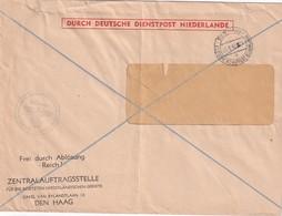 OCCUPATION PAYS-BAS 1942 LETTRE DE DEN HAAG - Occupation 1938-45