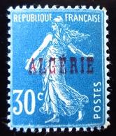 1924 Ex-colonies & Protectorats Algérie Yt 17  Type Semeuse 30 Cts Bleu . Neuf ** - Algérie (1924-1962)