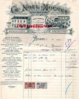 BELGIQUE- NISMES- FACTURE CH. NOEL MOUVET-QUINCAILLERIE MENUISERIE-AGENT COMPAGNIE ASSURANCE LA BELGIQUE -1904 - Old Professions