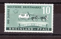 Etat Rheno-Palatin - 1949 - N° 48 - Neuf ** - Voiture à Chevaux - Expo Philatélique Du Sud-Ouest - Diligences