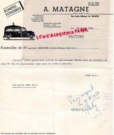 BELGIQUE- NAMUR-RARE FACTURE A. MATAGNE- POMPES FUNEBRES- TRANSPORT CERCUEILS-FUNERAILLES-1954 CORBILLARD - Old Professions