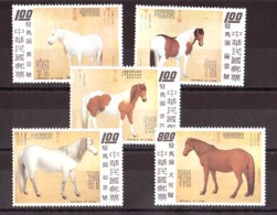 Chine (Formose) - 1973 - N° 924 à 928 - Neufs ** - Chevaux Par Guiseppe Castiglione - Chevaux