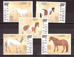 Chine (Formose) - 1973 - N° 924 à 928 - Neufs ** - Chevaux Par Guiseppe Castiglione - Cavalli