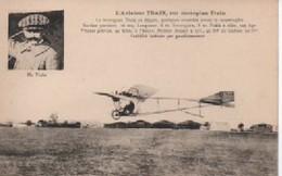 L AVIATEUR  TRAI  SUR MONOPLAN  TRAIN - Aviateurs