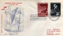 Vaticano 1964 Dispaccio Aereo Speciale Viaggio Di Papa Paolo VI In Terra Santa Con Timbro D'arrivo Sul Retro Jerusalem - Vatican