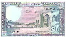 Lebanon  P-66d  100 Livres  1988 UNC - Liban