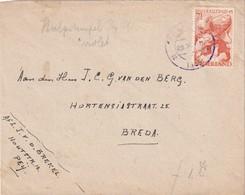 PAYS-BAS 1945 LETTRE DE NEIJ POUR BREDA  CACHET VIOLET - 1891-1948 (Wilhelmine)