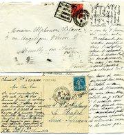 Daguin 2 Différentes Clermont Ferrand Touristes Visitez 272 A Sur LAC +140 CP Sommet Puy De Dôme Ruines Temple Mercure - Poststempel (Briefe)