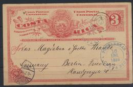 Übersee Costa Rica Ganzsache Postal Stationery Puntarenas To Berlin - Costa Rica