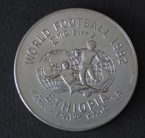 Münze Äthiopien 2 Birr XII. Fußball-Weltmeisterschaft 1982 In Spanien Stgl - Münzen