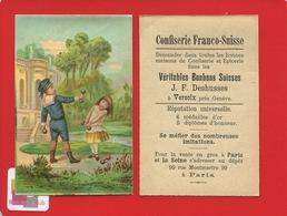 Confiserie Franco-suisse VERSOIX Deshusses  Genève Jolie Chromo ENFANT HALTERES HALTEROPHILIE Force - Otros
